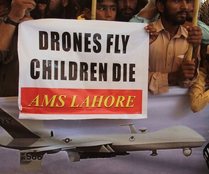 A rally protesting U.S. Drone strikes in Waziristan