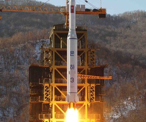 An Unha-3 rocket being launched in December 2012