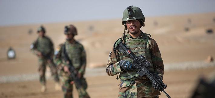 Afghan army commandos train
