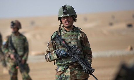 Afghan army commandos train