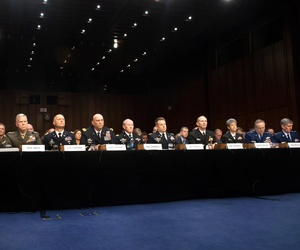 Military Service chiefs testify before Congress on sexual assault last month.