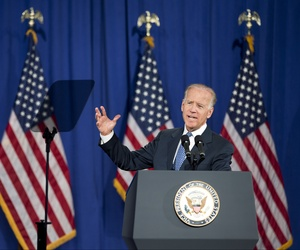 Vice President Joe Biden gave a sweeping foreign policy speech in Washington, D.C., on Thursday.