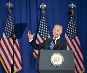 Vice President Joe Biden gave a sweeping foreign policy speech in Washington, D.C., on Thursday.