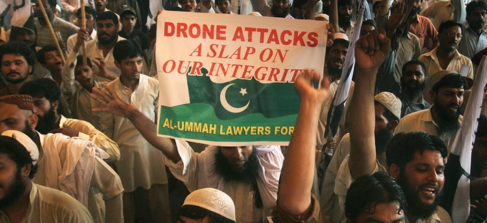 Protestors rally against drone attacks in Waziristan
