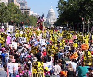 An Iraq War protest in Washington, D.C. in 2007