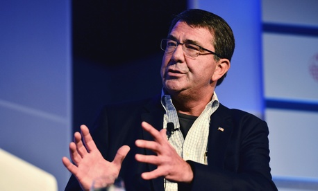 Deputy Defense Secretary Ashton Carter speaking at the Aspen Security Forum