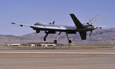 An MQ-9 drone during training operations