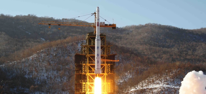 North Korea's Unha-3 rocket lifting off in December, 2012 during a test