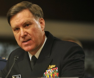 Vice Chief of Naval Operations Adm. Mark Ferguson during a Senate Armed Services Committee hearing