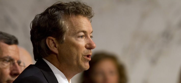Sen. Rand Paul, R-Kentucky, speaking during a Senate Foreign Relations Committee hearing on Syria