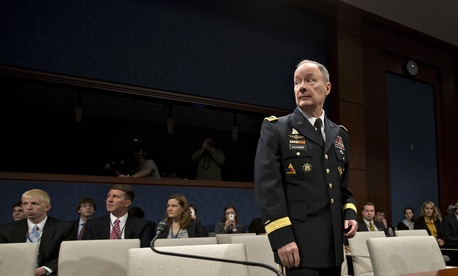 NSA Director Gen. Keith Alexander before a hearing on the Hill