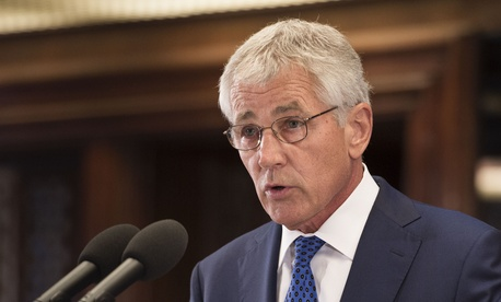 U.S. Defense Secretary Chuck Hagel fielded questions about Syria while visiting Manila, Aug. 30, 2013