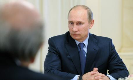 Russian President Vladimir Putin during a meeting in Sochi, Russia