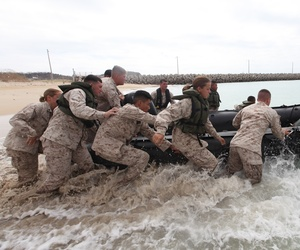Marines participating in a training exercise in Okinawa