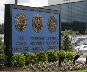 The NSA building, at Fort Meade, Md.