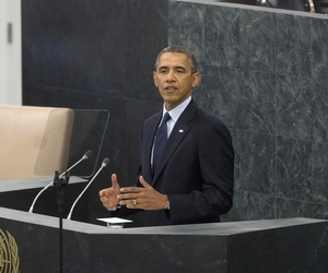President Obama addresses the United Nations General Assembly in New York on Tuesday.