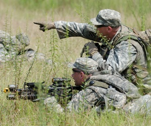 Georgia National Guard members train at Fort Stewart, Ga., in September 2013.
