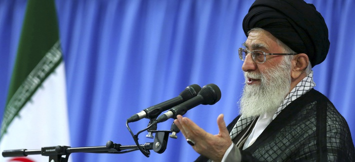 Iran's Supreme Leader Ayatollah Ali Khamenei, pictured on Sept. 17, 2013.