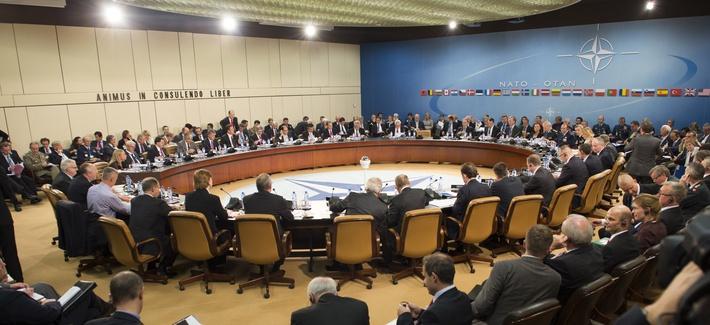 NATO defense ministers including Defense Secretary Chuck Hagel met in Brussels, Oct. 22, 2013.