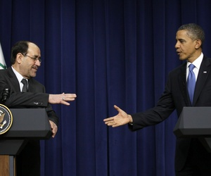 President Obama and Iraqi President Nouri al-Maliki at the White House on Dec. 12, 2011.