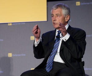 Defense Secretary Chuck Hagel at the Defense One Summit, Nov. 14, 2013.