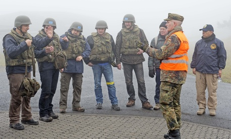 German inspectors with the OPCW during a training session