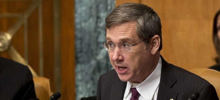 Sen. Mark Kirk, R-Ill., during a Senate hearing