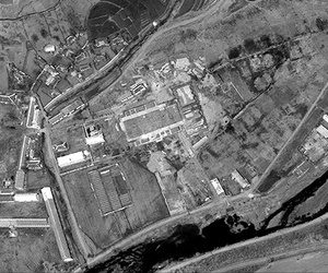 A satellite image of the Musudan-ri launch complex in construction in April 2012