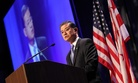 Veterans Affairs Secretary Eric Shinseki speaking at the Justice For Vets Veterans Treatment Court conference