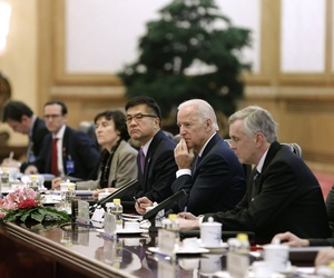 Vice President Joe Biden during a meeting with Chinese President Xi Jinping