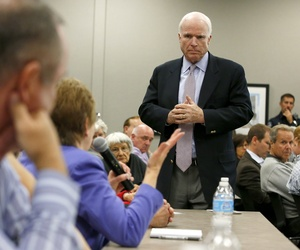 "Sen. John McCain, R-Ariz., said that the budget deal only ""softens"" the impact from sequestration"