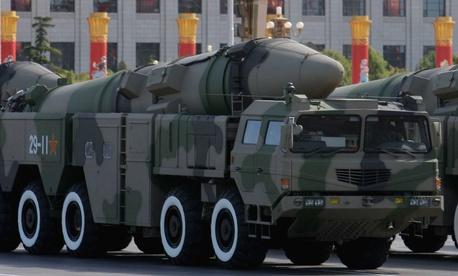 A Dongfeng 21D missile during a military parade in Beijing, China. China's leadership has been expanding its repertoire of missiles in recent years, and may have recently tested the Dongfeng 41, its new long-range missile