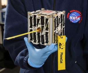 NASA's PhoneSat, a cubesat that was recently launched at the Wallops Flight Facility in Virginia