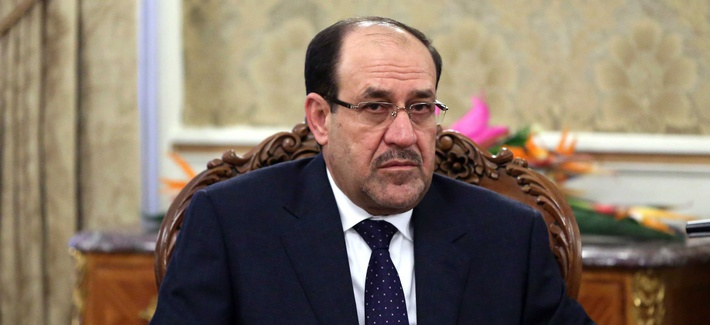 Iraq's Prime Minister Nouri al-Maliki during a December meeting in Iran