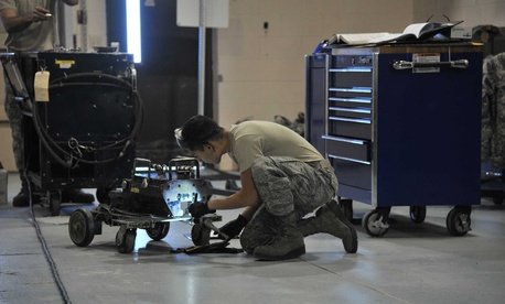 Mechanical equipment is inspected at Malmstrom AFB in Montana