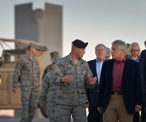 Defense Secretary Chuck Hagel during a recent visit to the Pentagon's nuclear facilities