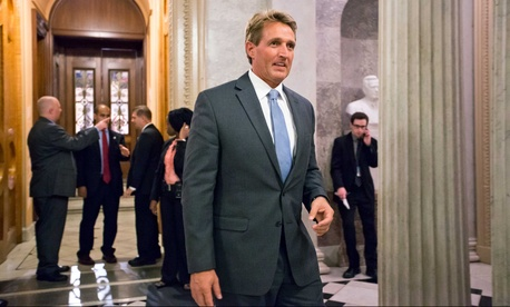 """The military is at a crossroads, fast growing benefits are threatening to displace investments in readiness of our armed services,"" Sen. Jeff Flake, R-Ariz. said."