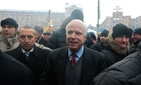 Sen. John McCain, R-Ariz., during his December 2013 trip to Ukraine