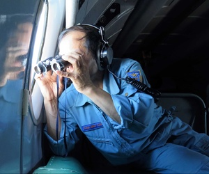 A Vietnamese Air Force Colonel assisting with the search for Malaysian Airlines flight 370