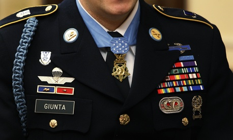 Staff Sgt. Salvatore Giunta during an interview with The Associated Press on Dec. 15, 2010.
