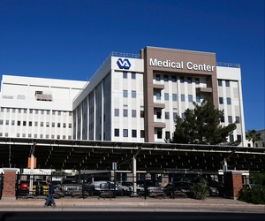 The Phoenix VA Health Care Center, shown here on April 28, 2014, has come under scrutiny as growing concerns about allegations of gross mismanagement and neglect.