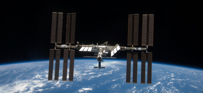 The International Space Station in orbit