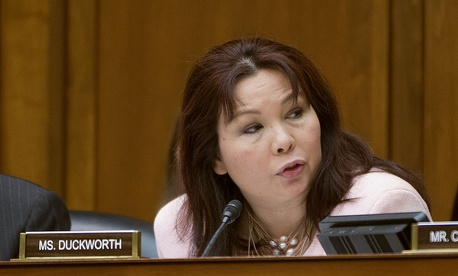 Rep. Tammy Duckworth, D-Ill., speaks during a House hearing on Capitol Hill, Feb. 6, 2014. Duckworth and four other Democrats have been chosen to counter Republican representation in a Benghazi select investigative committee announced May 21.