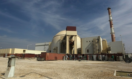 The reactor building of the Bushehr nuclear power plant in southern Iran is pictured here in a file photo from Oct. 26, 2010.