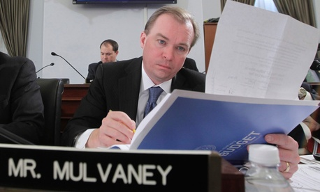 House Budget Committee member Rep. Mick Mulvaney, R-S.C., listens to testimony from Budget Director Jack Lew, Feb. 15, 2011, on Capitol Hill.