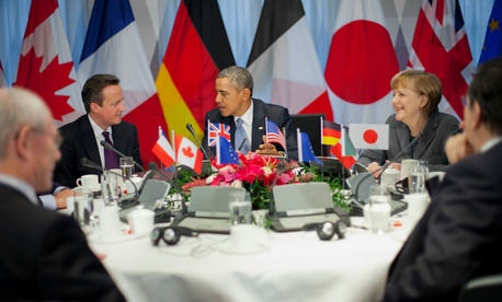 President Barack Obama participates in a G7 Leaders meeting in The Hague, Netherlands, March 24, 2014.