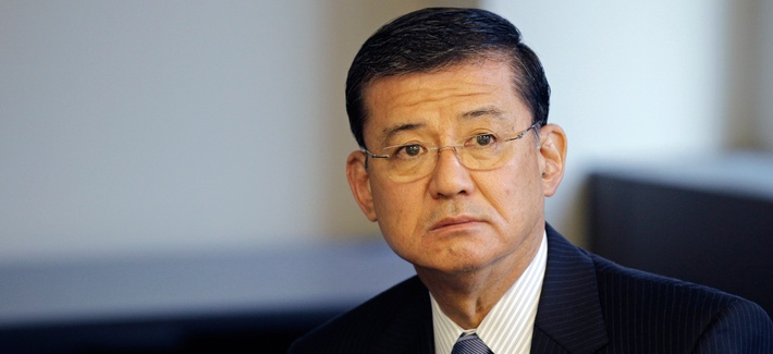 Veterans Affairs Secretary Eric Shinseki attends a meeting at a VA in Balitmore in 2010.