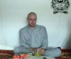 Sgt. Bowe Bergdahl  appears in a Taliban propaganda video released in July 2009 shortly after being captured in Afghanistan.