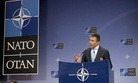 NATO Secretary General Anders Fogh Rasmussen speaking at a press conference on June 3, 2014.