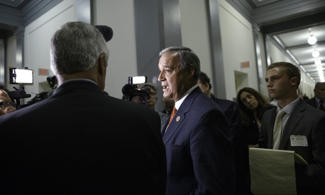 Rep. Jeff Miller, R-Fla., speaks to reporters on Capitol Hill on June 9, 2014.